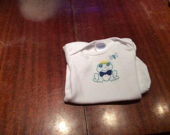 Frog Prince 0-3 Month Romper or Bodysuit