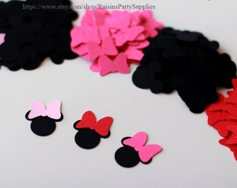 Minnie Mouse die cuts Table decor Minnie Mouse confetti Party favor confetti Baby shower supplies Minnie birthday party decorations Disney