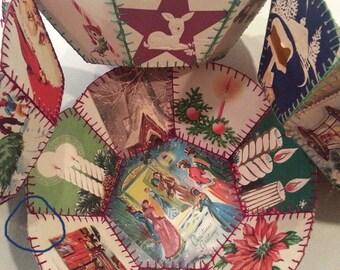 Christmas Serving bowls Vintage Card Bowls Home Crafts