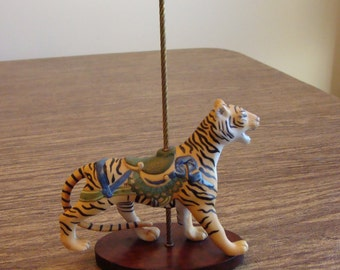"Bengal Tiger collectible carousel figure from the Franklin Mint ""Treasury of Carousel"" Art series"