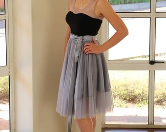 Black and Grey Short Dress