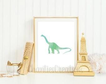 Brachiosaurus  Watercolor Wall Art Printable