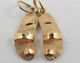 Sandals From Sandals Resort 14K Gold Vintage Charm For Bracelet