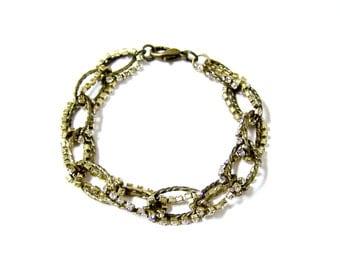 Oval Twist Bracelet with Rhinestones