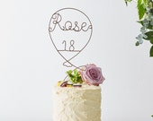 Name Cake Topper, balloons cake topper, Wire Cake Topper, Birthday cake topper, Metallic Cake Topper, Balloon cake topper, cake toppers uk
