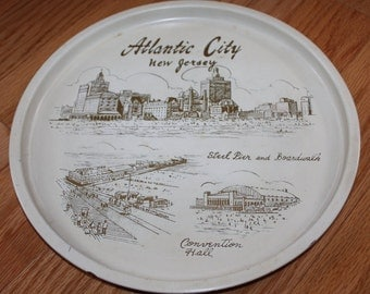 Atlantic City, New Jersey, Vintage Souvenir Tray, Jersey Shore