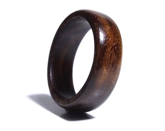 Wooden ring from SandalWood  // Wood men ring //  Wooden jewelry // Engagement ring //  Tamboti wooden ring