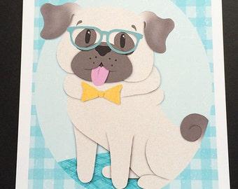Pug- Cute Print