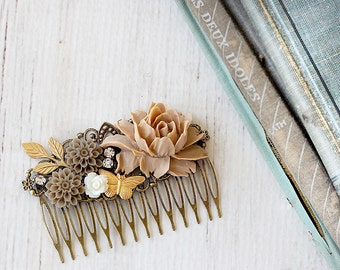 Hair Comb - Vintage Style Bridal Comb - Boho Wedding Hair Accessories - Wedding Comb - Wedding Hair - Graduation Hair Accessory - Mom Gift