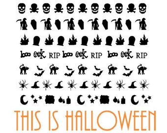 Halloween Vinyl Nail Stickers. Ships in 3-5 business days