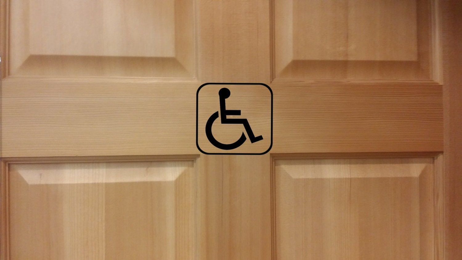 Bathroom Floor Decals : Handicap restroom decal bathroom