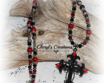 Gothic style Cross Necklace