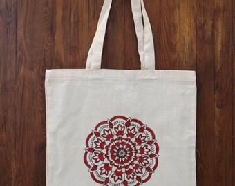 Tote Bag handmade, chart pattern