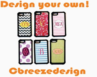 protective iphone 6 case, monogram iphone6 case, custom iphone case, iphone 6 plus, iphone case, iphone 6 accessory,