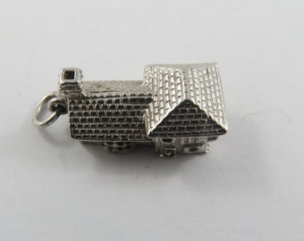 Sterling Silver Charm of a Cottage House.