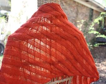 shawls, rust colored shawls, clapotis shawl, hand knit shawls, hand knit shawl, knit shawls, knit shawl, scarves, wool shawls, wool shawl
