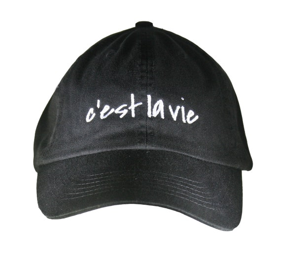 c'est la vie (Polo Style Ball Black with White Stitching)