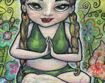 Find Your Zen Mixed Media Girl