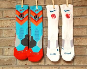Nike elite socks | Monogrammed nike elite | Monogrammed socks | Nike Elite | Socks | Nike socks | Monogrammed basketball socks | Soccer sock