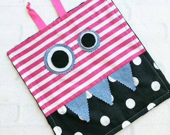 Monster Baby Lovey - Tag Blanket - Baby Blanket - Monster Baby - Baby Items - Baby Gift - Taggie Blanket - Monster Baby Blanket - Baby Girl