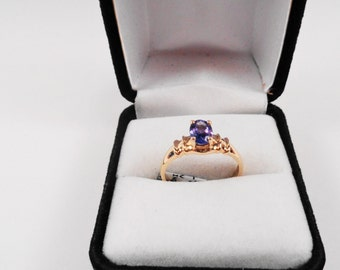 Tanzanite Ring.  Tanzanite Oval in a 14kt Gold Ring