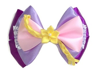 Rapunzel Disney Character Inspired Hair Bow from the Film Tangled