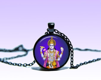 Vishnu Pendant Lord Vichnu NECKLACE Lord Jewelery Amulet Charm Pendant for Him or Her