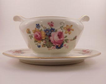 TK Thuny China Floral Gravy Boat