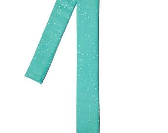Teal Dotted Skinny Tie