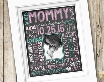 First Time Mom Gift ~ Mother's Day Gift for Her ~ New Mommy Gift ~  First Mother's Day Print Printable Mother's Day Custom Photo Art DIGITAL