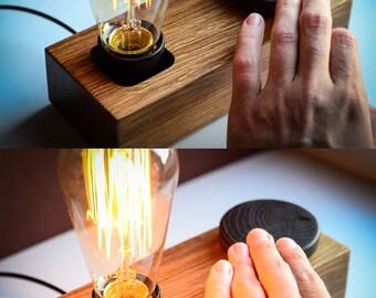 Edison DIMMER Lamp BLOCK#89 Handmade. Natural. Ecofriendly. Dimmer Lamp.  Dimmer