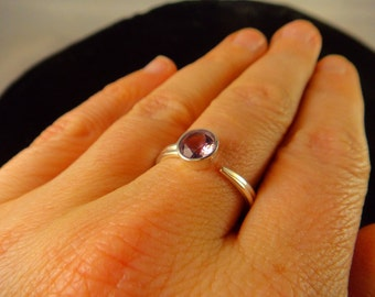 AMETHYST RING SIZE 8.5 Sterling Silver