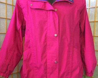Vintage 1990's Pacific Trail Neon Pink Lightweight Jacket Womens S