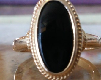 SALE***Oval Onyx Ring