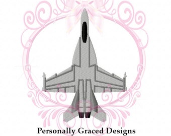 Instant Download F-18 Hornet Military Aircraft Fighter Jet Airplane Embroidery Design, 3in, 4in, 5in, 6in, 4x4, 5x7, 6x10, Navy, Marines