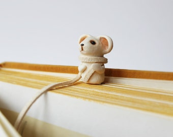 Bookmark Mouse cute paper clips handmade unusual art bookmark