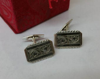 835 silver of cufflinks cuff links old MS117