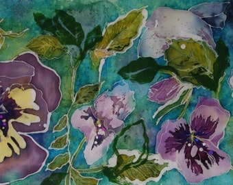 Pansy Field - Decorative Textile Panel
