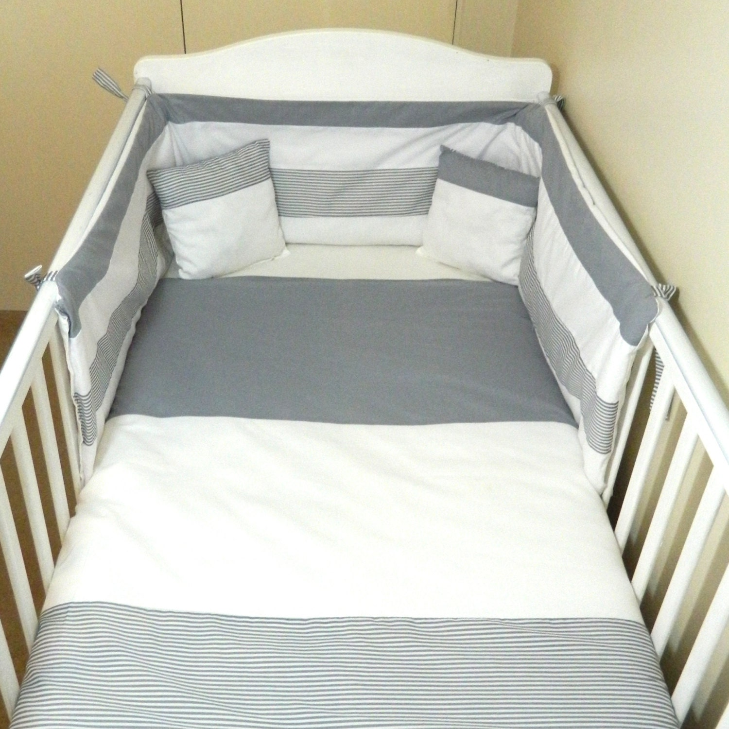 Grey And White Baby Bedding Unisex Baby Bedding Grey And White