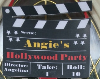 Movie/ Hollywood party directors cut signs