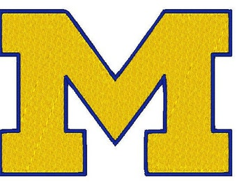 michigan football logo, Embroidery Design, 4x4, Instant Download