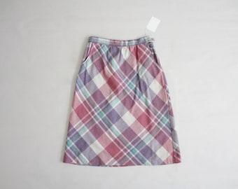 wool plaid skirt | 1970s plaid skirt | plaid wool skirt