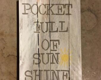 Pocket Full of Sunshine Wood Canvas