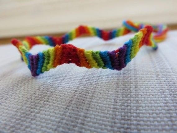 zig zag rainbow friendship bracelet string bracelet