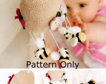 DMC Crochet pattern~Amigurumi Bumble Bee Mobile