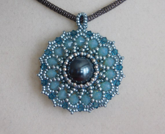bead pendant tutorial beaded pattern jewelry