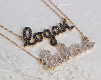 two name necklace , layered name necklace , diamond name necklace , double name necklace , name necklace gold , script name necklace