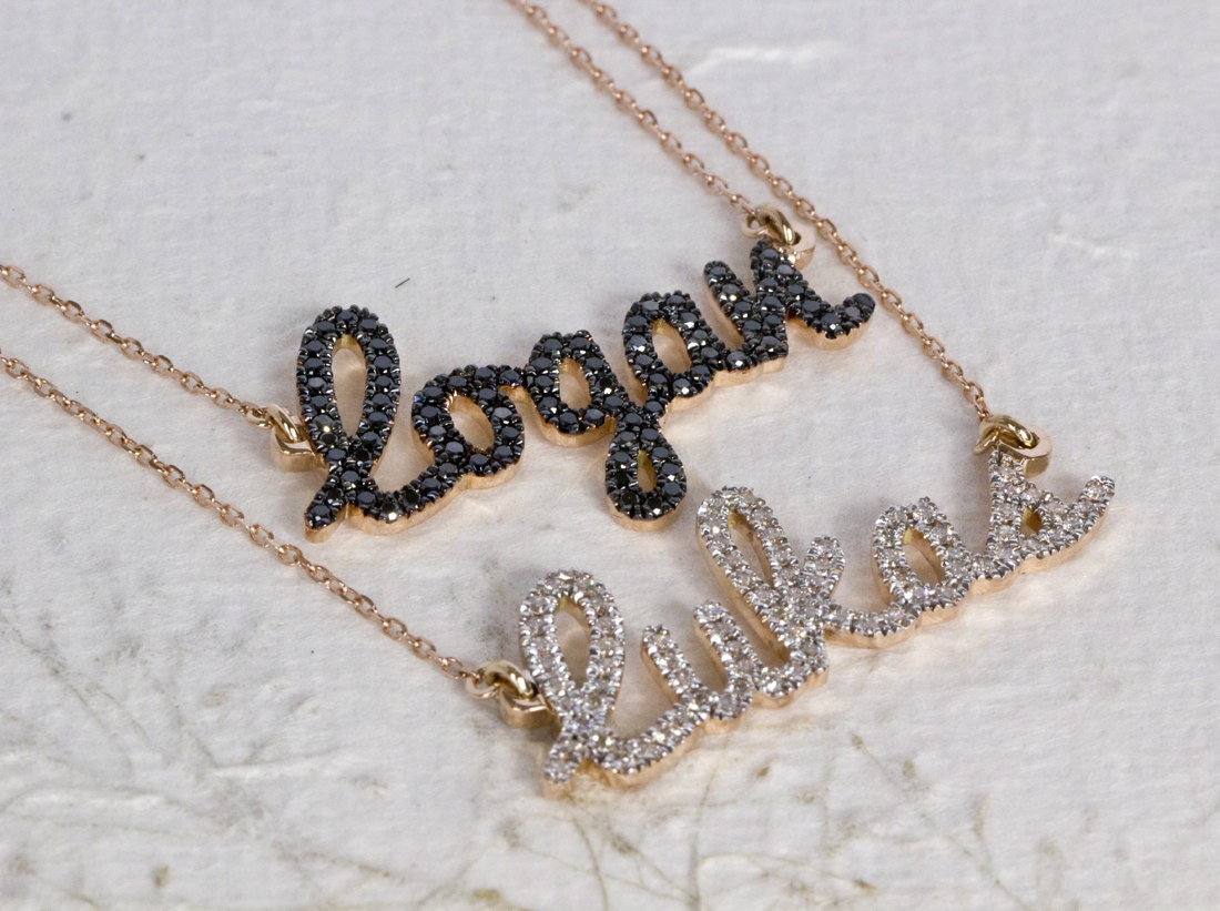 two name necklace layered name necklace diamond name