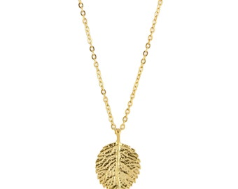 Gold Leaf Necklace, Leaf Charm Necklace, Leaf Pendant Necklace, Leaf Necklace Gold, Gold Charm Necklace, Nature Necklace, Gold Leaf Pendant