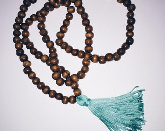 Wooden Bead Tassel Necklace - Free Shipping!